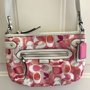 Coach Purse, Pink/Orange Multi-Colored